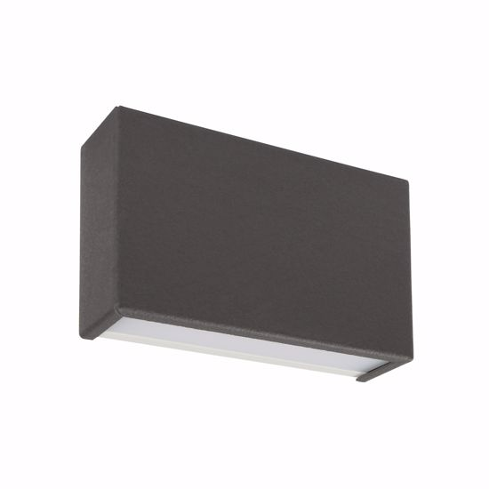 LINEA LIGHT APPLIQUE LED UP&DOWN BOX GRIGIO ANTRACITE 10W 3000K