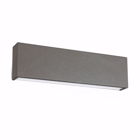APPLIQUE LED BIEMISSIONE BOX GRIGIO CEMENTO LINEA LIGHT