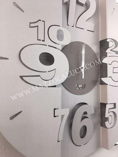 ARTI E MESTIERI TUNNEL OROLOGIO DA PARETE MODERNO FANGO AVORIO DESIGN