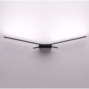 MA&DE WINGS APPLIQUE LED 10W 3000K NERO DESIGN MODERNA