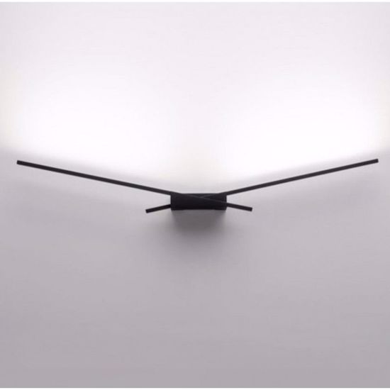 APPLIQUE LED 10W 3000K NERO DESIGN MODERNA