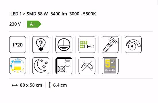 PLAFONIERA LED 58W DA 3000K A 5500K DIMMERABILE CON TELECOMANDO DESIGN MODERNA