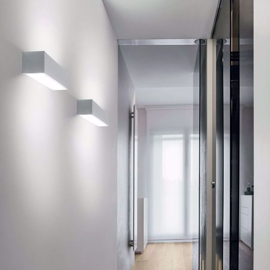 APPLIQUE MODERNO RETTANGOLARE LINEA LIGHT BOX 61CM NICHEL 2700K