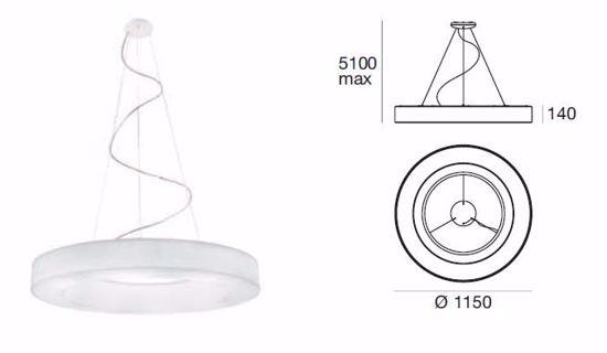 LAMPADARIO LED MODERNO 4000K 115CM DIMMERABILE