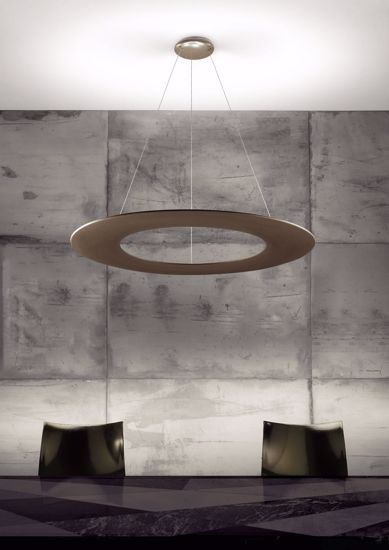 LAMPADARIO MODERNO BRONZO LED 55W 3000K PER SALOTTO