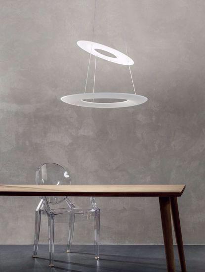 LAMPADARIO LED MODERNO BIANCA 3000K 42W