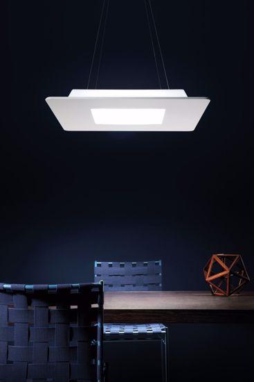 LAMPADARIO MODERNO LED 28W GRIGIO CEMENTO 3000K