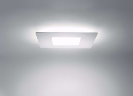 PLAFONIERA LED 37W 3000K QUADRATA MATERIALE PLASTICO BIANCO