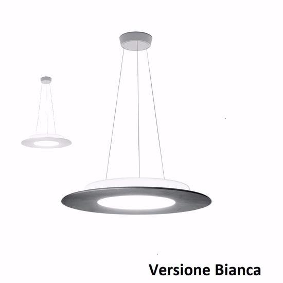 LAMPADARIO MODERNO LED 23W 3000K ROTONDO BIANCO