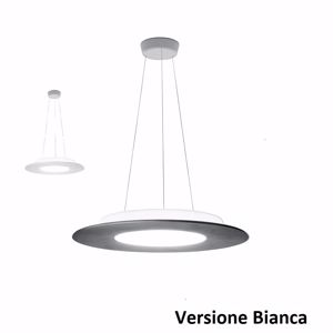 LAMPADARIO MODERNO BIANCO TONDO 32W 3000K