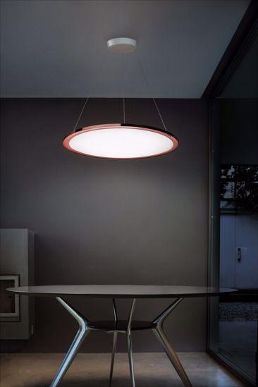 LAMPADARIO MODERNO ROTONDA ORO ROSA 42W LED