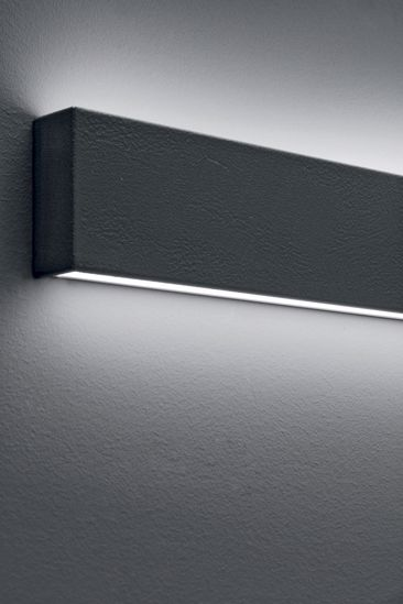 BOX LINEA LIGHT APPLIQUE LED A MURO GRIGIO CEMENTO 41W 3000K UP&DOWN