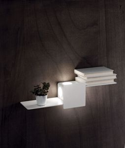 APPLIQUE LED MENSOLA LUMINOSA METALLO BIANCO DESIGN ORIGINALE