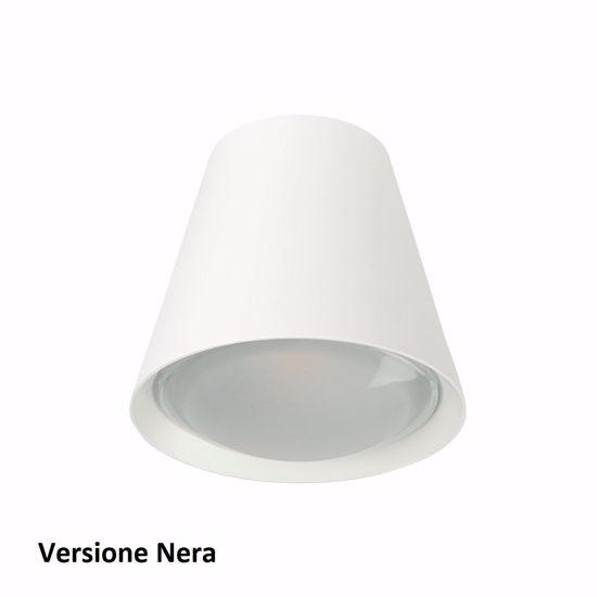 PLAFONIERA LED CONUS DESIGN MODERNA NERA LINEA LIGHT