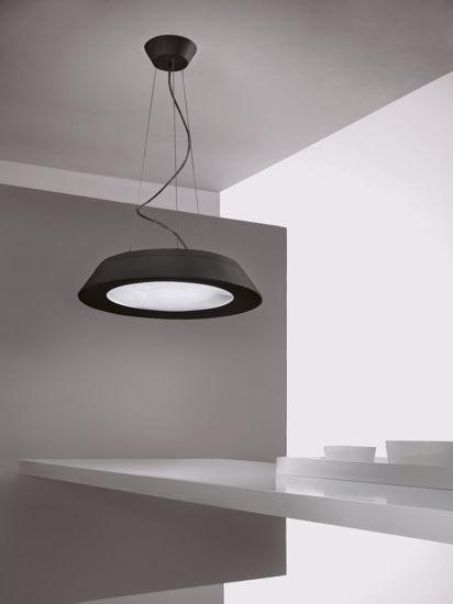 LAMPADARIO MODERNO 21W NERO LED LINEALIGHT CONUS PER SOGGIORNO