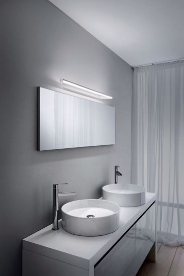 LINEA LIGHT APPLIQUE LED SPECCHIO BAGNO CIRCULAR CROMO 11W