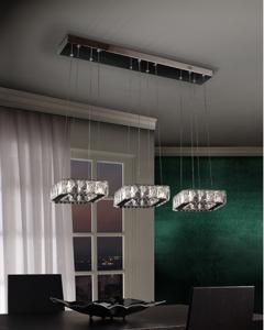 LAMPADARIO LED 48W 4000K DESIGN ELEGANTE IN CRISTALLO MODERNO