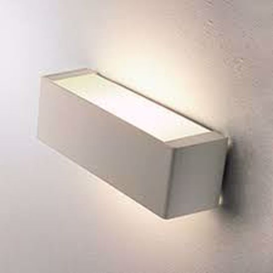 APPLIQUE RETTANGOLARE MODERNO 2700K 45CM BIANCO LAMPADA INCLUSA LINEA LIGHT BOX