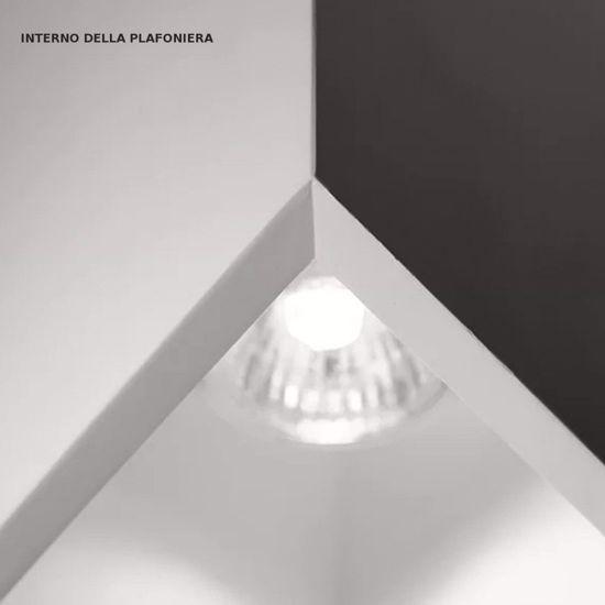FARETTO GU10 LED DA SOFFITTO GESSO DESIGN BIANCO
