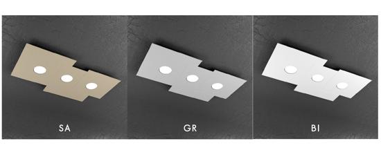 TOP LIGHT PLATE PLAFONIERA BIANCA GX53 LED DESIGN PER CUCINA MODERNA