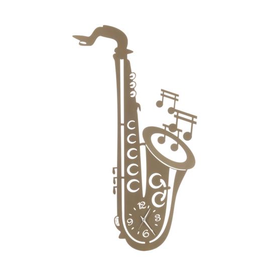 ARTI E MESTIERI SAX OROLOGIO DA PARETE MODERNO METALLO BRONZO TEMA MUSICALE