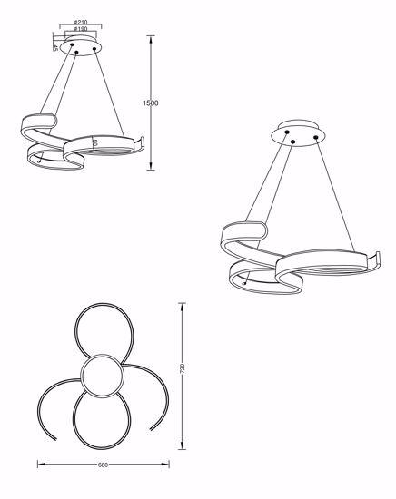 LAMPADARIO DA SOGGIORNO DESIGN MODERNO LED DIMMERABILE ANTRACITE