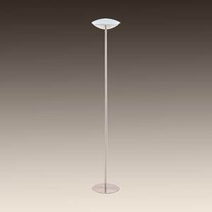 PIANTANA LAMPADA DA TERRA DIMMERABILE LED 18W RGB NICKEL PER SOGGIORNO