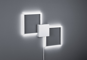 APPLIQUE LED 20W 3000K QUADRATI LUMINOSI DIMMERABILI MODERNA CON FILO E INTERRUTTORE