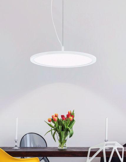 LAMPADA A SOSPENSIONE PER CUCINA MODERNA DISCO LED 21W RGB CON TELECOMANDO E BLUETOOTH