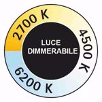 PLAFONIERE LED LUCE DIMMERABILE
