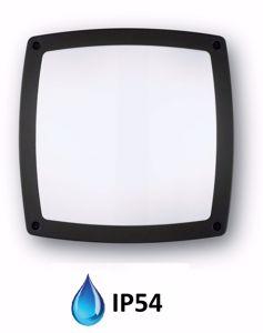 PLAFONIERA MODERNA BORDO NERO QUADRATA DA BAGNO IP54
