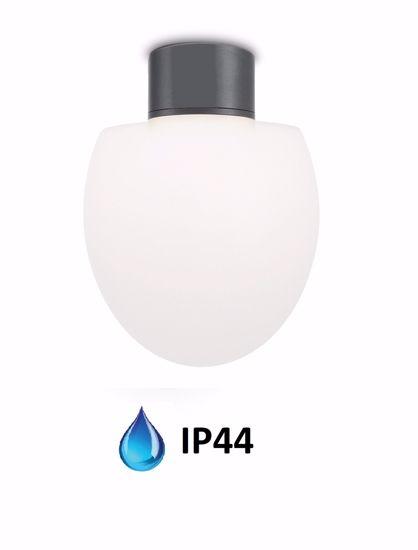 PLAFONIERA PER BALCONE ANTRACITE DESIGN MODERNA IP44