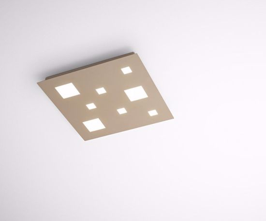 PLAFONIERA LED 36W 3000K QUADRATA SABBIA 45CM CHECKER BOARD ISYLUCE