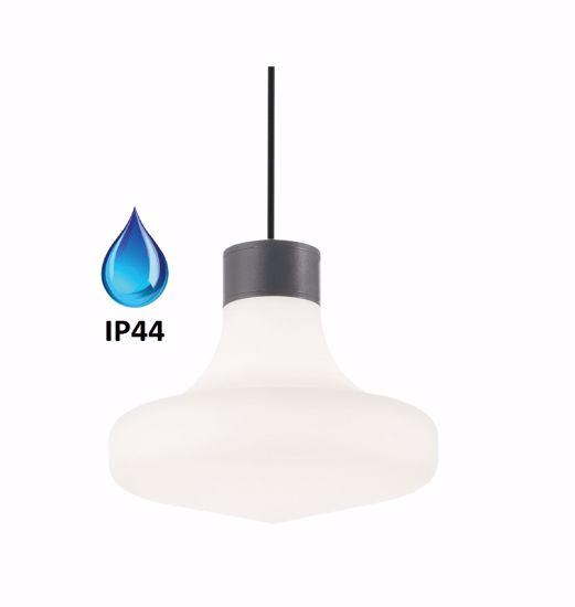 LAMPADARIO DA BAGNO ANTRACITE IP44