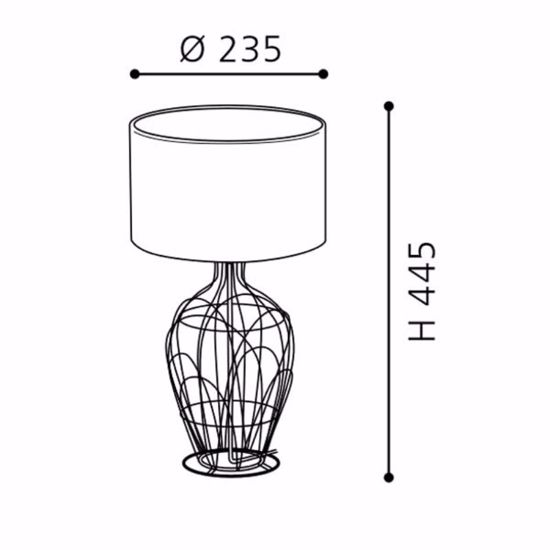ABATJOUR LAMPADA DA TAVOLO METALLO NERO ULTIMO PEZZO PROMOZIONE