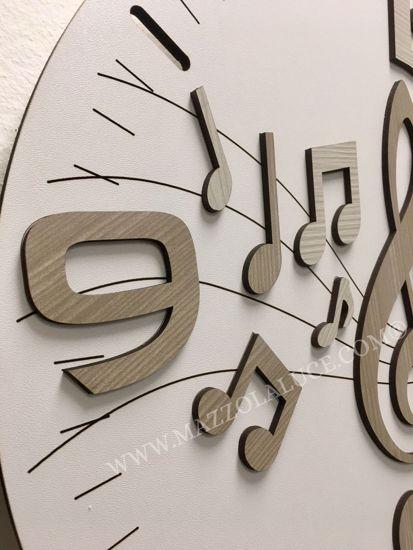 OROLOGIO DA PARETE MUSICALE LEGNO 50CM DESIGN MODERNO