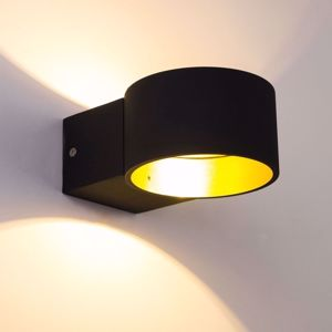 APPLIQUE LED 4.5W 3000K NERO ORO DESIGN PER INTERNI
