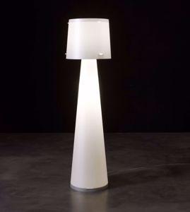 PIANTANA LAMPADA DA TERRA DESIGN MODERNA BIANCA MATERIALE PLASTICO PER INTERNI
