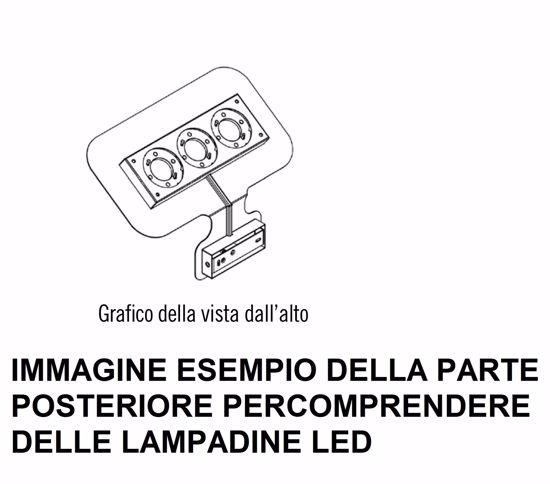APPLIQUE LED METALLO BIANCO DESIGN MODERNA LUCE INDIRETTA