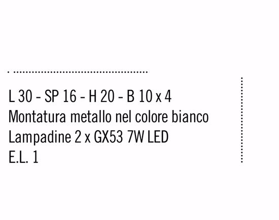 APPLIQUE GX53 LED PER INTERNI BIANCO DESIGN MODERNA IN PROMOZIONE