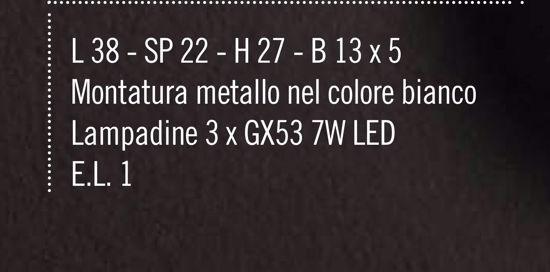 APPLIQUE LUMINOSO GX53 LED DESIGN MODERNA METALLO BIANCO PROMOZIONE