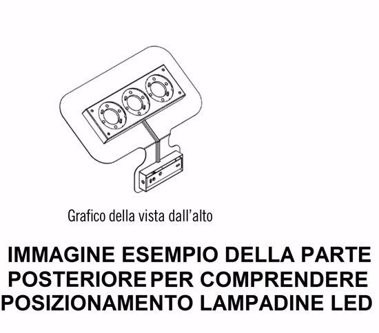 APPLIQUE LED GX53 DESIGN MODERNA METALLO BIANCO PER INTERNI IN PROMOZIONE