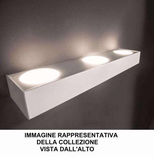 APPLIQUE LUMINOSO 5XGX53 LED DESIGN MODERNA BIANCO LUCE SOPRA SOTTO