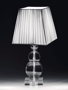 ABATJOUR LAMPADA DA COMODINO IN CRISTALLO TRASPARENTE PER CAMERA DA LETTO