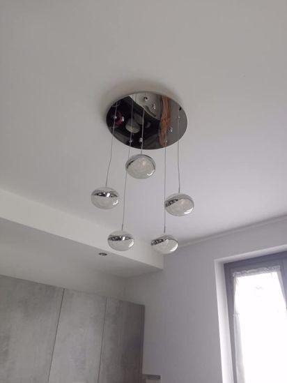 LAMPADARI A LED MODERNI PER SOGGIORNO 46W 3000K SFERE CRISTALLO