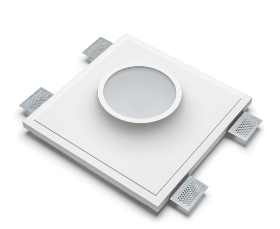 GRANDE FARETTO IN GESSO DA INCASSO LED 13W 3000K PER CONTROSOFFITTO