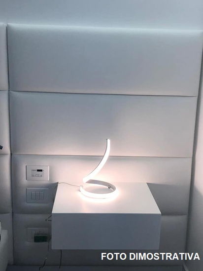 BIANCO LAMPADE DA COMODINO MODERNE SPIRALE LED 15W 2800K CAMERA DA LETTO