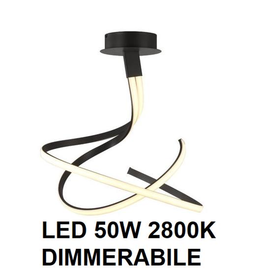 LAMPADARIO MODERNO LED 50W 2800K DIMMERABILE MARRONE OSSIDO