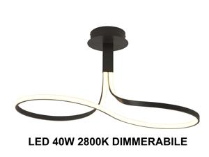 LAMPADARIO MODERNO INFINITO MARRONE LED 40W 2800K DIMMERABILE