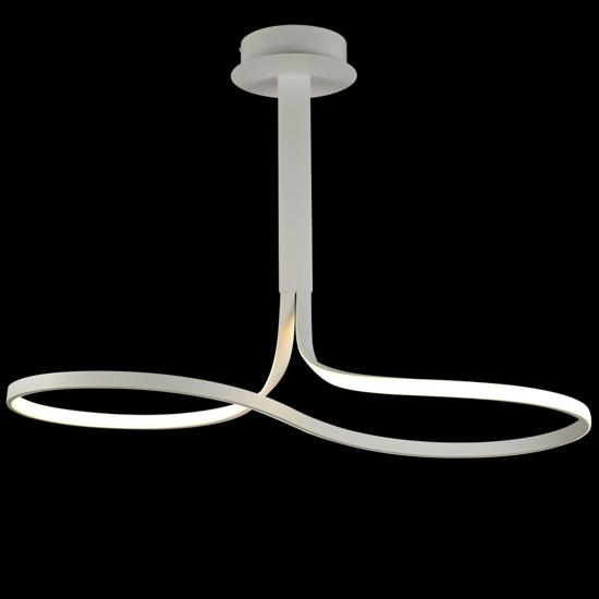 LAMPADARIO A LED 40W 2800K DIMMERABILE SOGGIORNO MODERNO INFINITO BIANCO